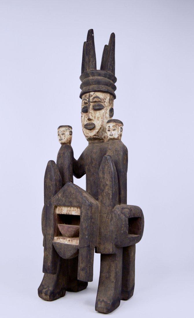 Rare Urhubo Aggression Shrine sculpture, African Art - 8