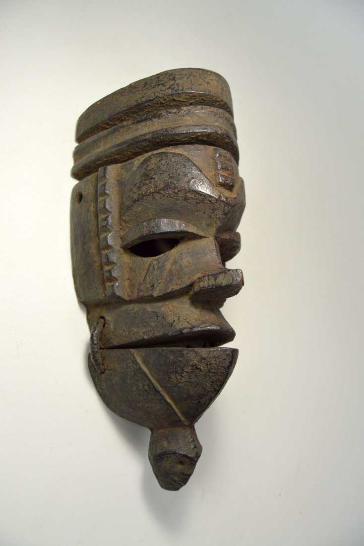 Ogoni mask with Movable jaw, African mask - 2