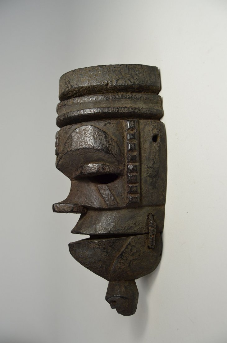 Ogoni mask with Movable jaw, African mask - 4