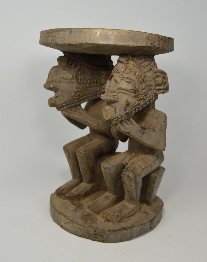 A Baga Male & Female Ancestor figure Stool