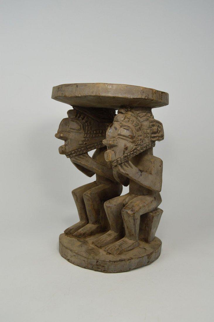 A Baga Male & Female Ancestor figure Stool - 2
