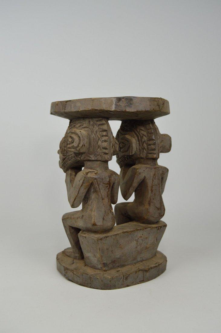 A Baga Male & Female Ancestor figure Stool - 3