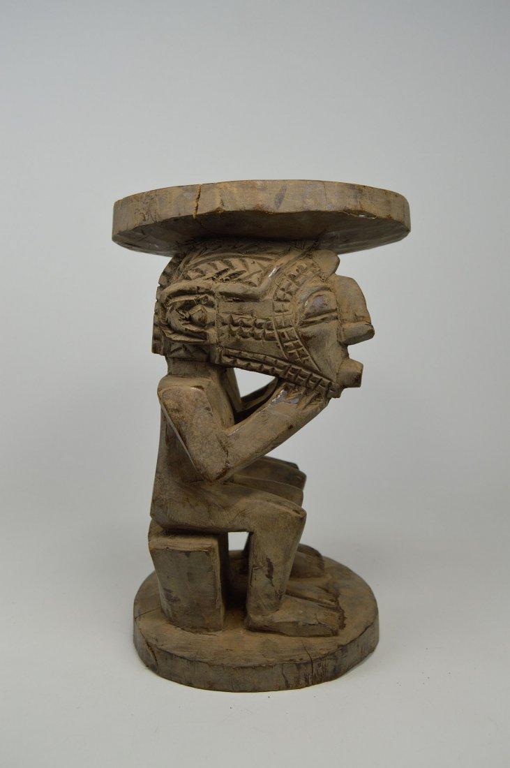 A Baga Male & Female Ancestor figure Stool - 4