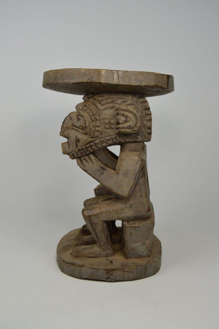 A Baga Male & Female Ancestor figure Stool - 5
