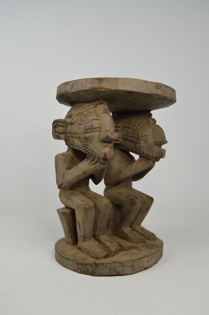 A Baga Male & Female Ancestor figure Stool - 6