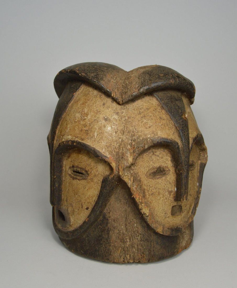 A Fang Four faced helmet Mask, African Art