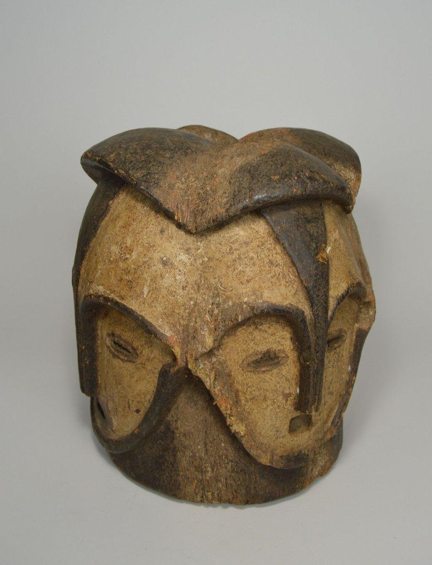 A Fang Four faced helmet Mask, African Art - 2
