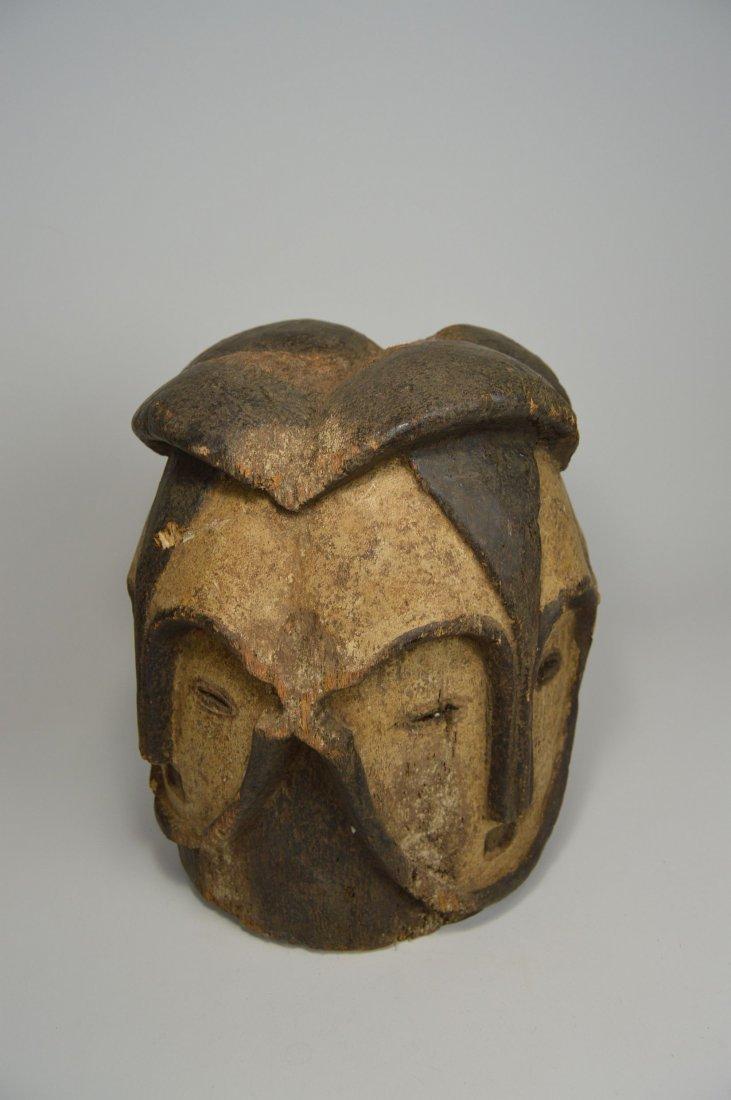 A Fang Four faced helmet Mask, African Art - 3