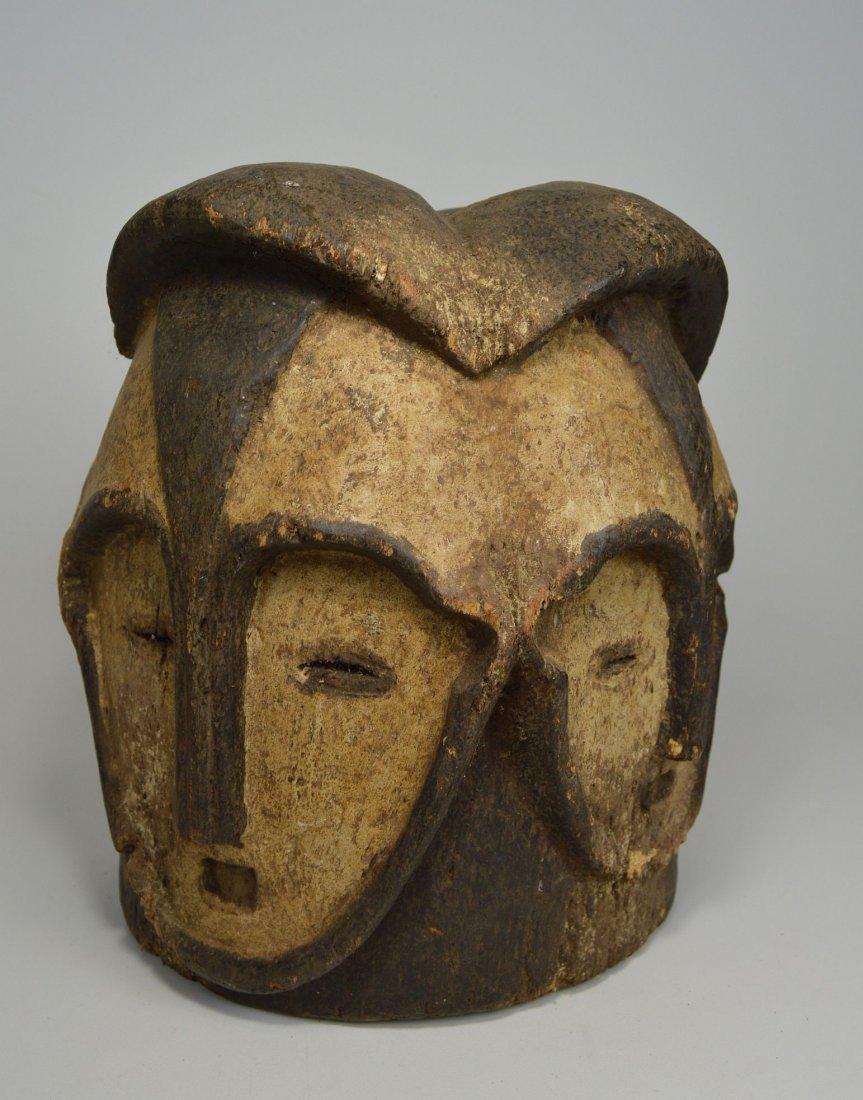 A Fang Four faced helmet Mask, African Art - 4