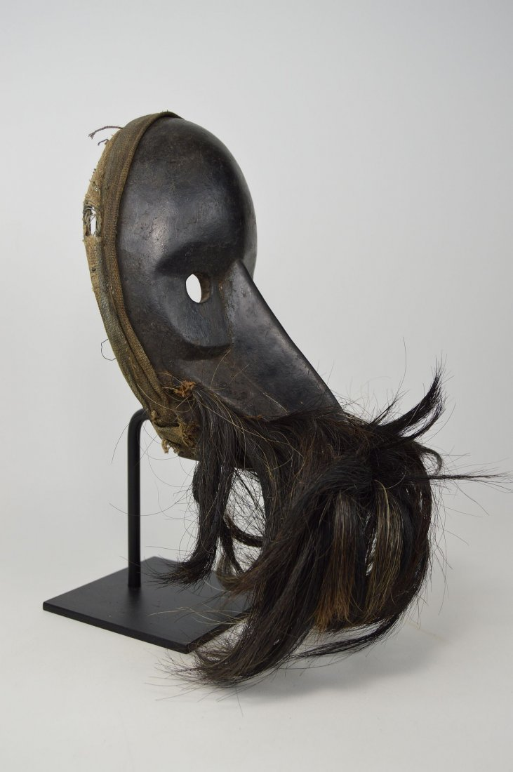 A Dan Gagon African mask with animal fur - 3