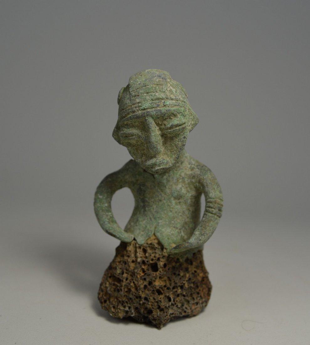 Unusual Sao Male bronze sculpture from Chad