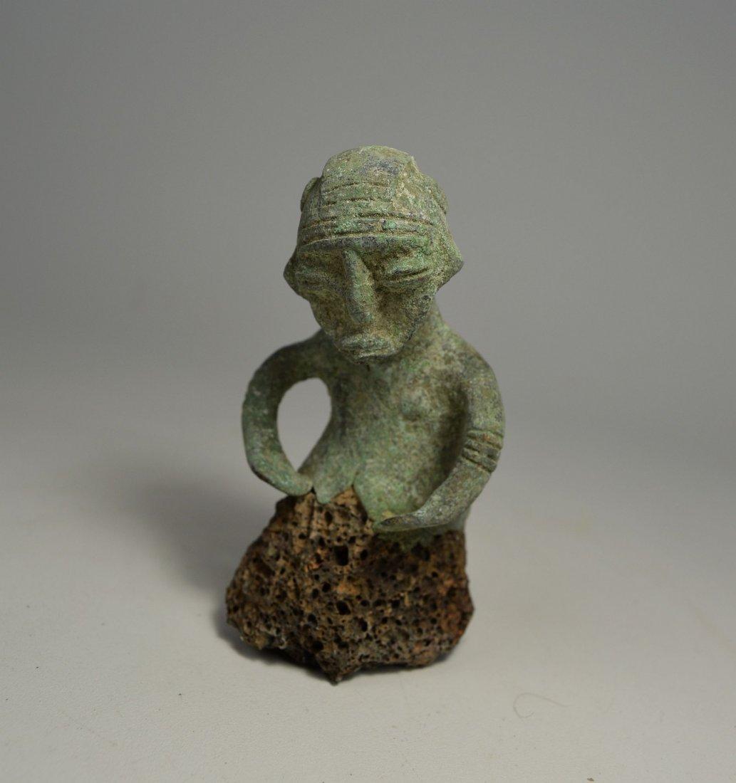 Unusual Sao Male bronze sculpture from Chad - 2