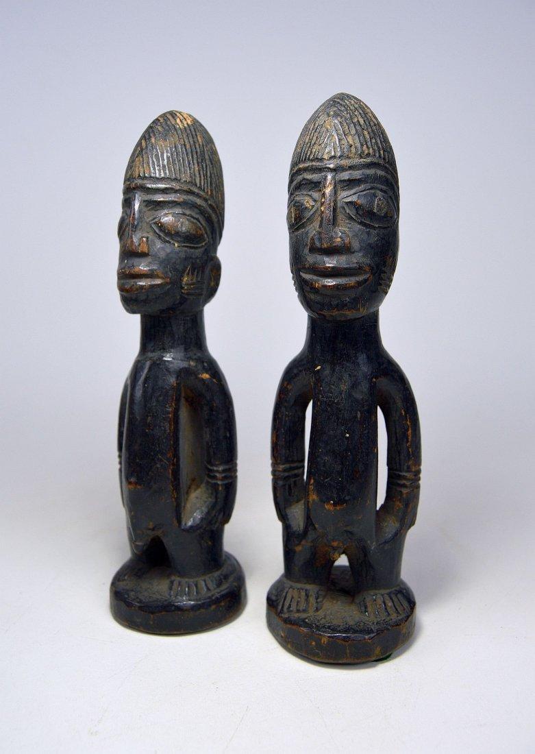 Pair of Yoruba Ibeji twin Idols