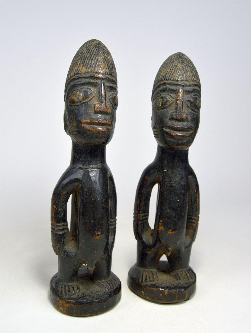 Pair of Yoruba Ibeji twin Idols - 2