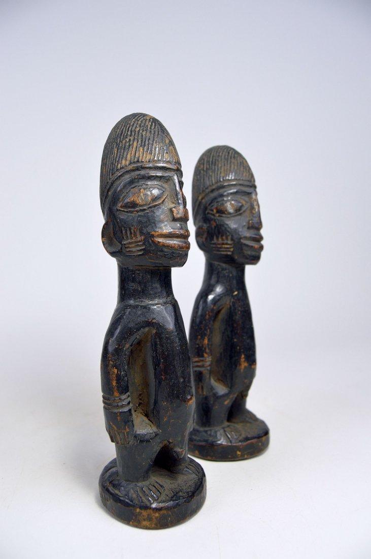 Pair of Yoruba Ibeji twin Idols - 3