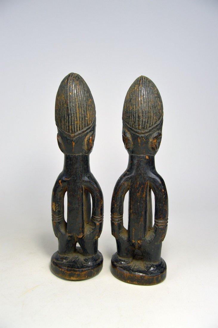 Pair of Yoruba Ibeji twin Idols - 4