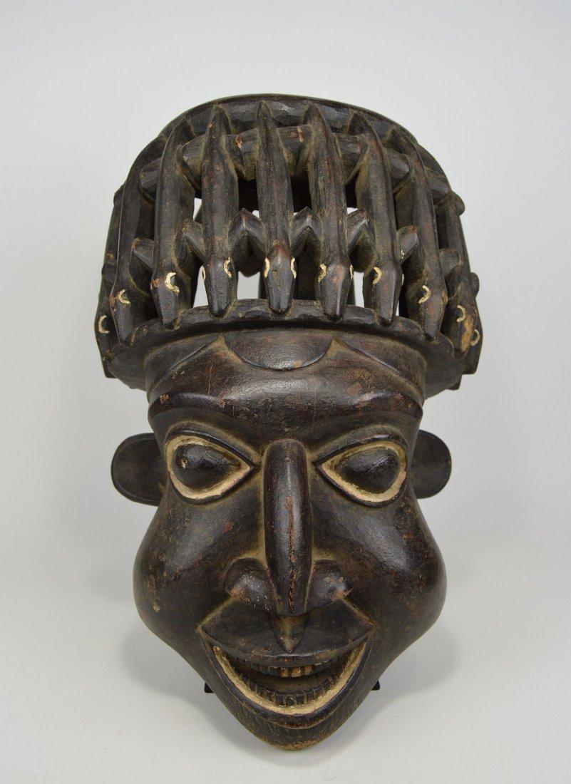 A Huge Bamileke N'kang African mask