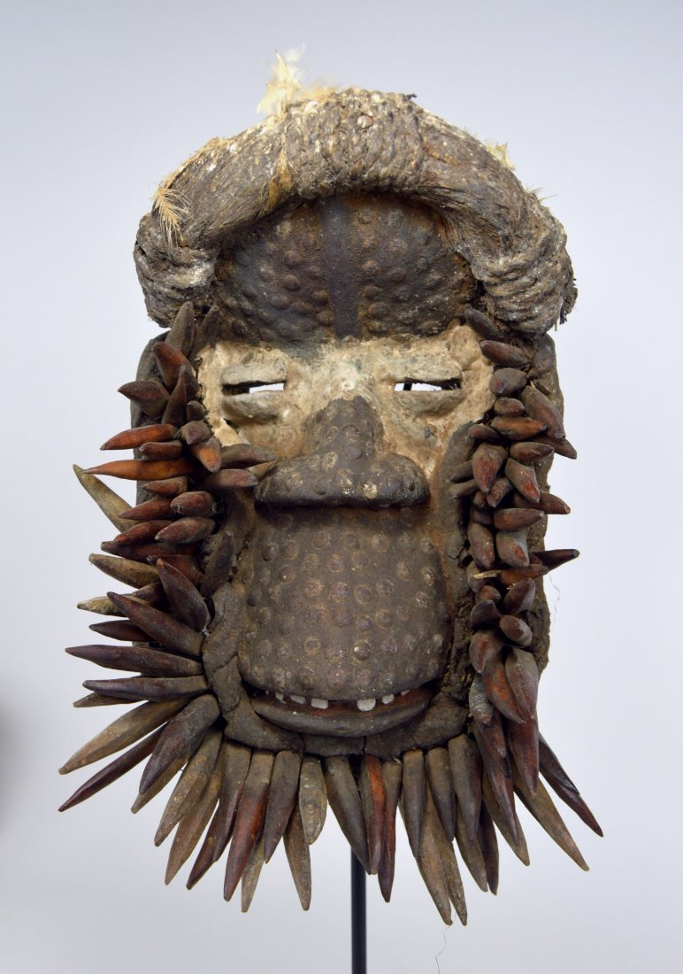 Fantastic Guere African mask with Spike Collar
