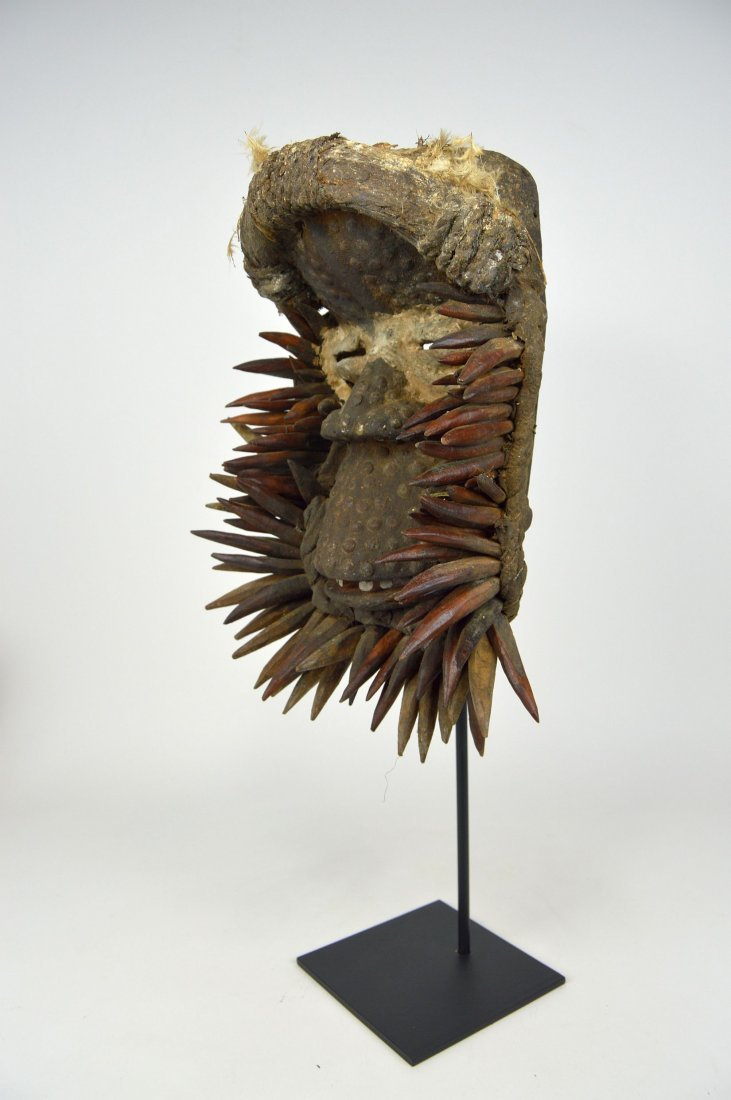 Fantastic Guere African mask with Spike Collar - 2