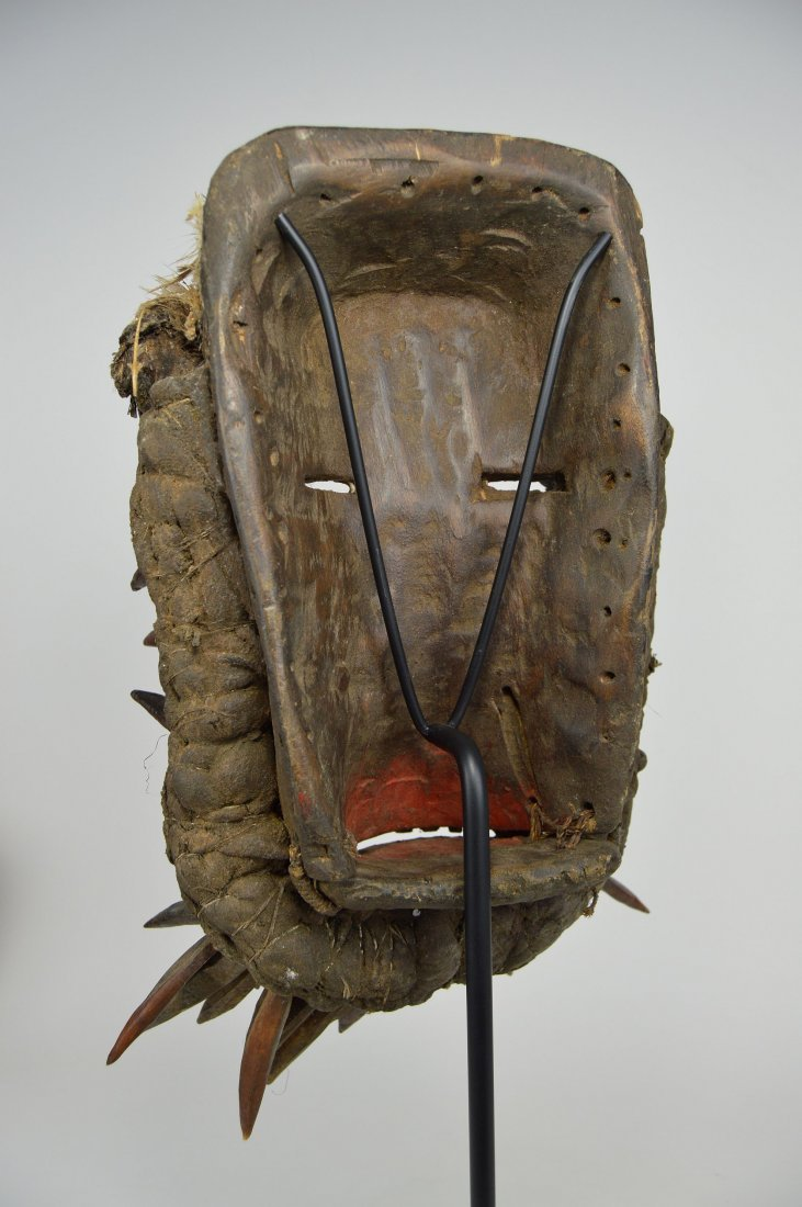 Fantastic Guere African mask with Spike Collar - 5