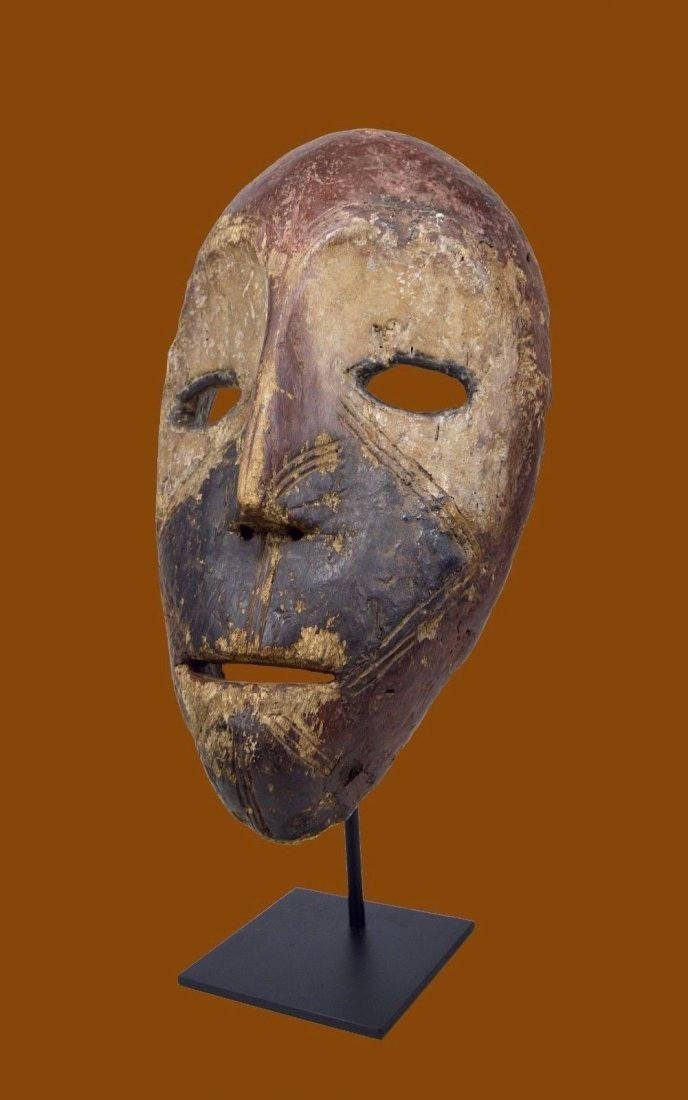 Eroded old Kumu African mask, African Art