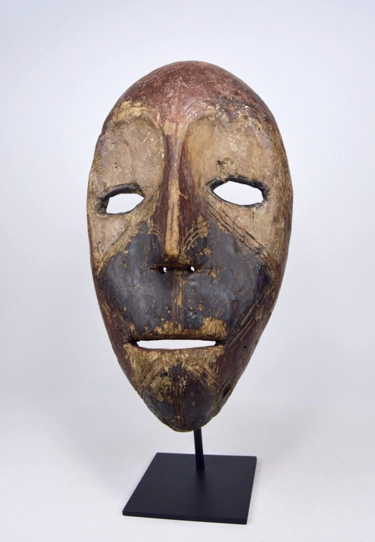 Eroded old Kumu African mask, African Art - 2
