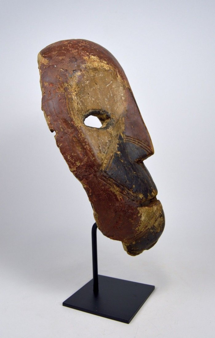 Eroded old Kumu African mask, African Art - 4