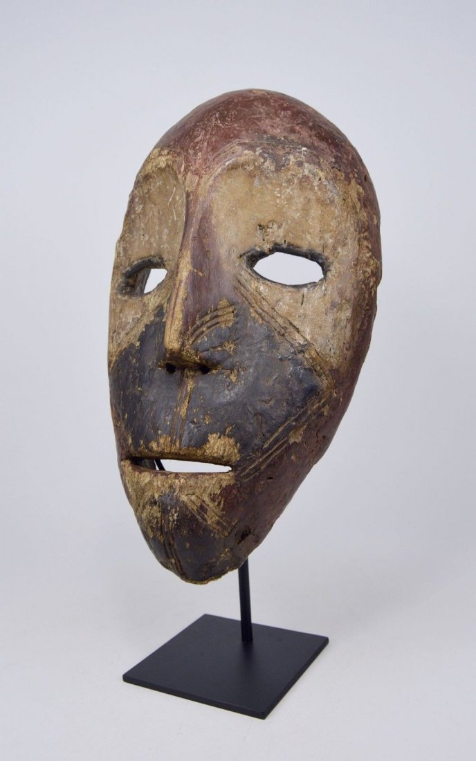 Eroded old Kumu African mask, African Art - 6