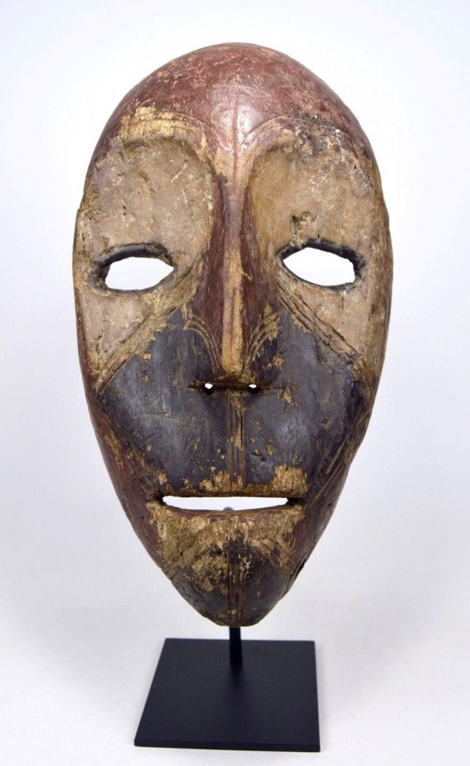 Eroded old Kumu African mask, African Art - 7