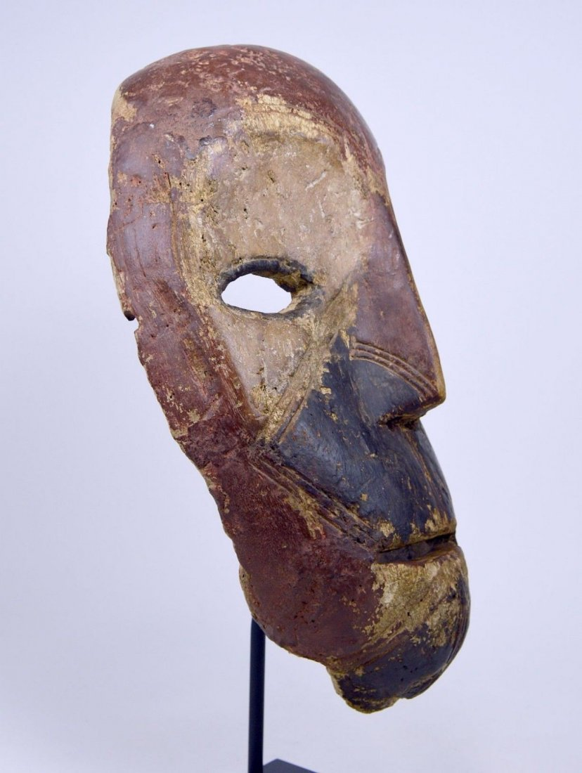 Eroded old Kumu African mask, African Art - 8