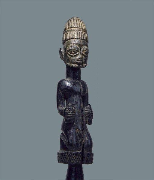 A Very Rare Old Yoruba Eshu staff - Jul 22, 2018 | TRIBAL GATHERINGS