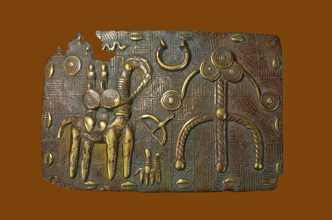 Rare Kotoko Bronze Divination Panel African Tribal Art