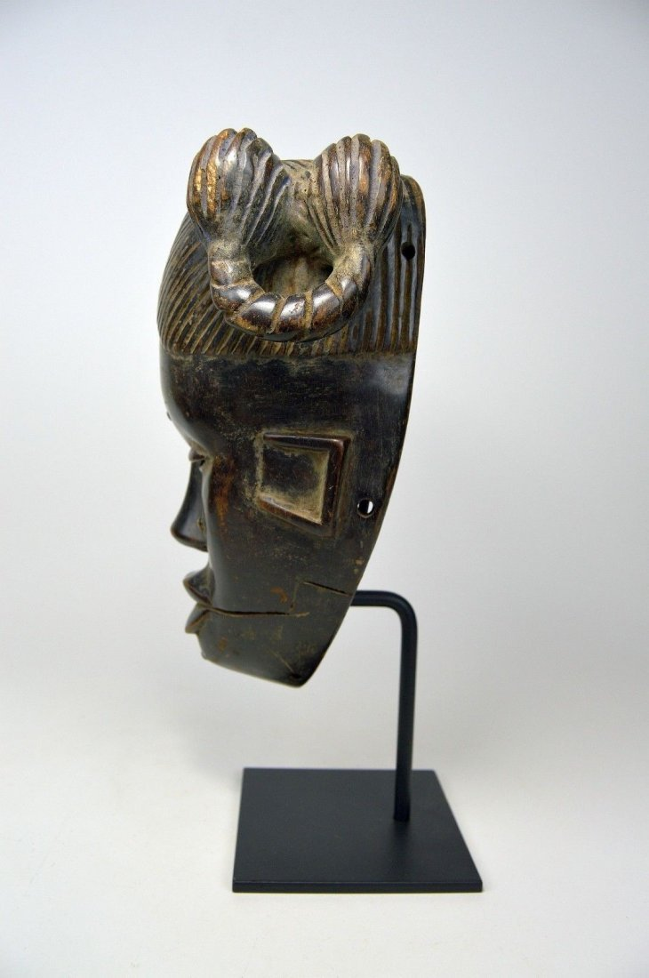 Vintage Ibibio Mask with elaborate coiffure - 5