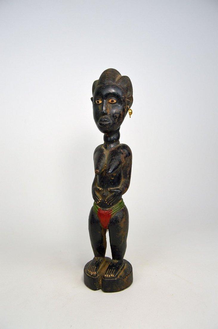 Old Baule Female sculpture Colon style - 4