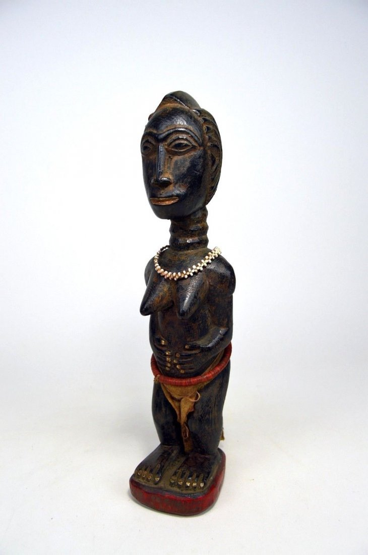 Beautiful Baule Female Colon style sculpture, - 3