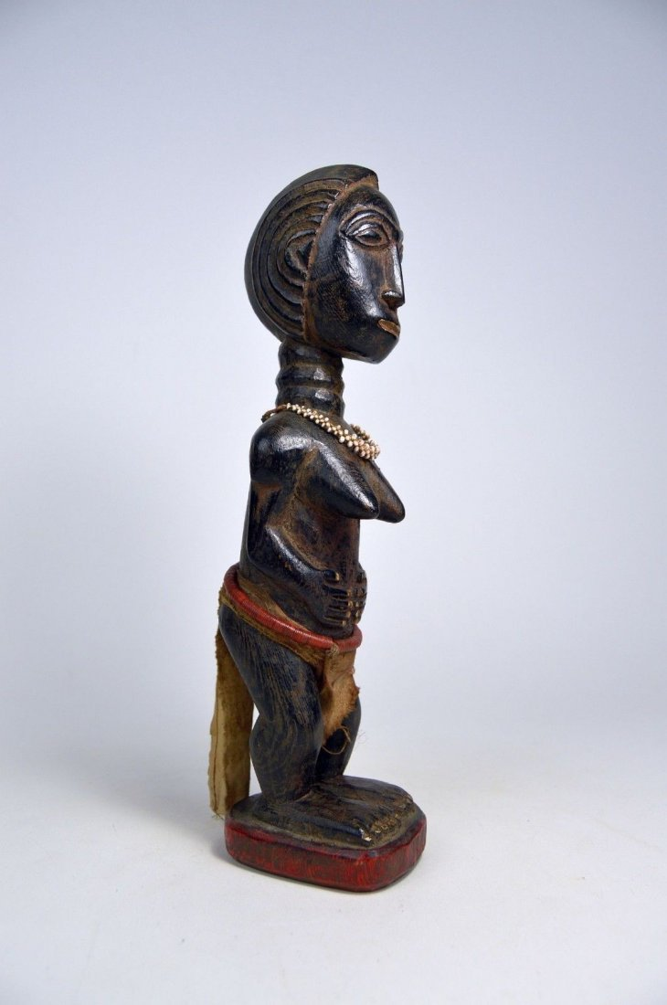 Beautiful Baule Female Colon style sculpture, - 4