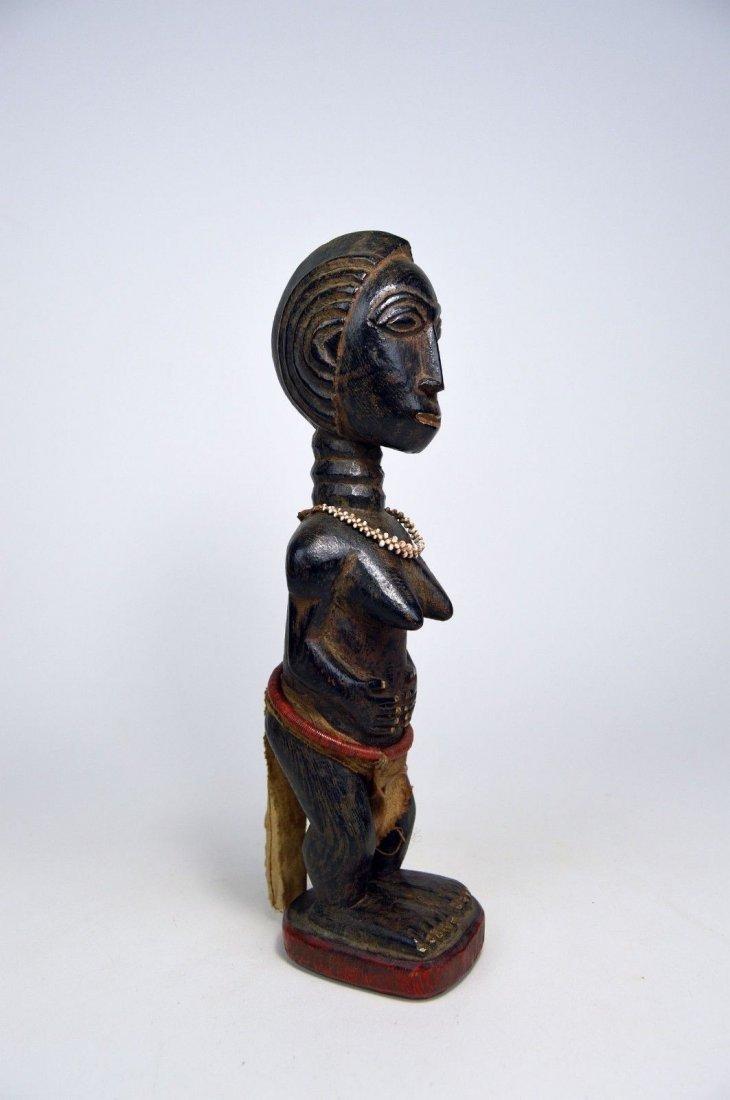 Beautiful Baule Female Colon style sculpture, - 5