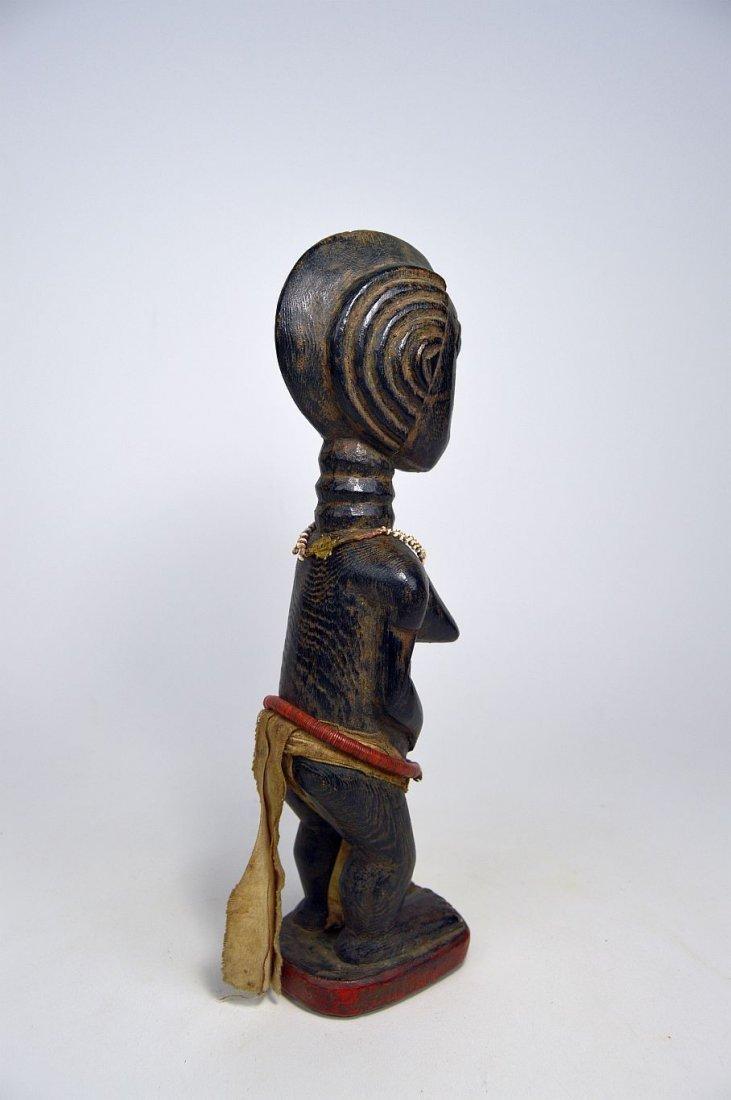 Beautiful Baule Female Colon style sculpture, - 6