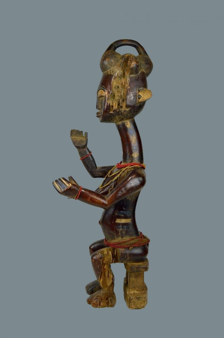 Vintage Kulango Articulated female statue African Art
