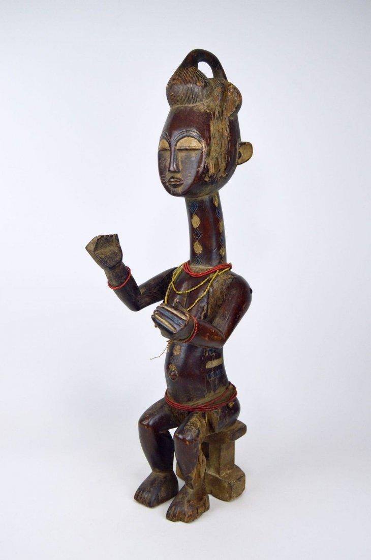 Vintage Kulango Articulated female statue African Art - 2