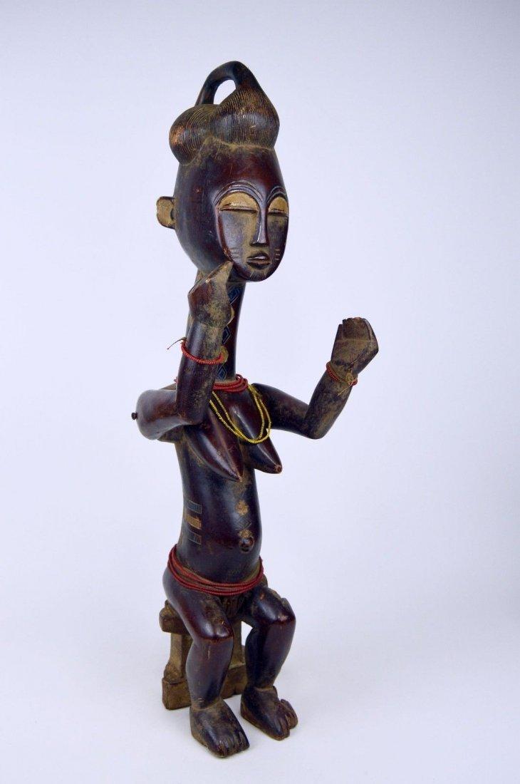 Vintage Kulango Articulated female statue African Art - 3