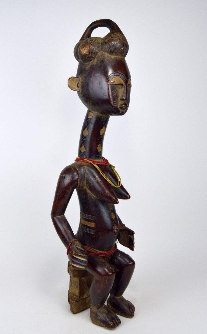 Vintage Kulango Articulated female statue African Art - 4