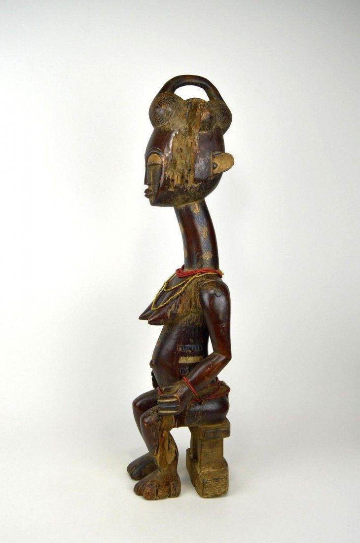 Vintage Kulango Articulated female statue African Art - 5