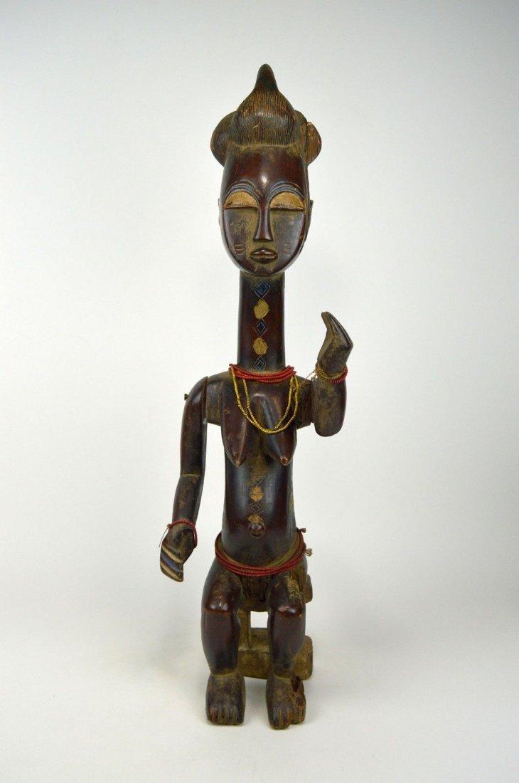 Vintage Kulango Articulated female statue African Art - 7