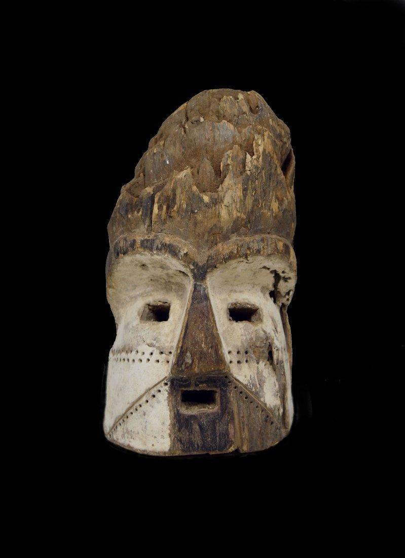 Old Eroded Kota Emboli Mask , African Art