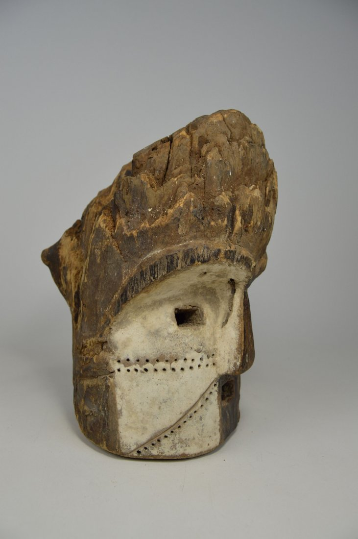 Old Eroded Kota Emboli Mask , African Art - 4