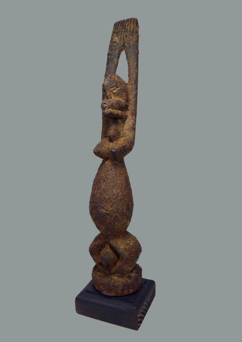 Encrusted Old Dogon Female Nommo sculpture, African Art