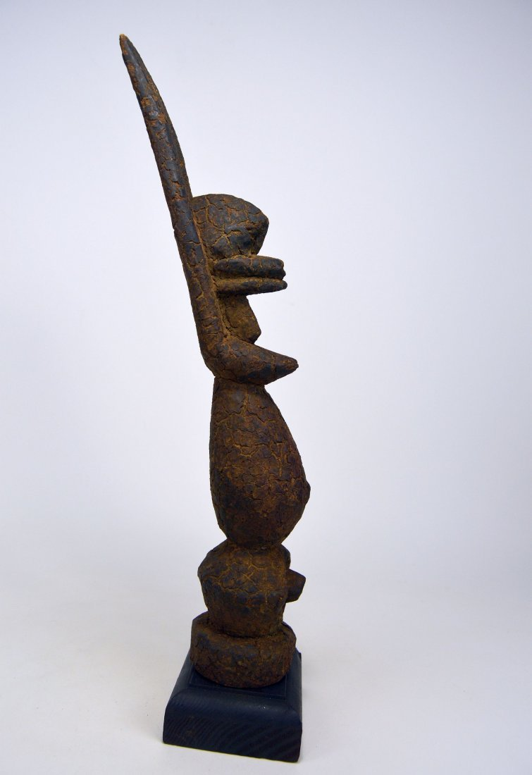 Encrusted Old Dogon Female Nommo sculpture, African Art - 3