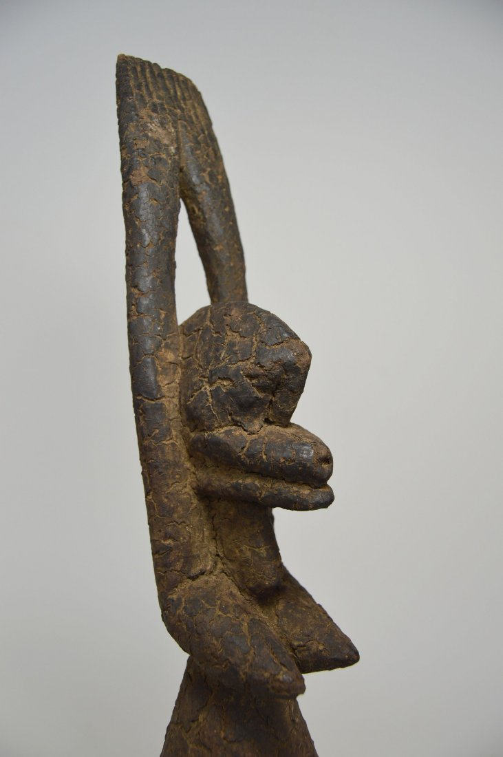 Encrusted Old Dogon Female Nommo sculpture, African Art - 4