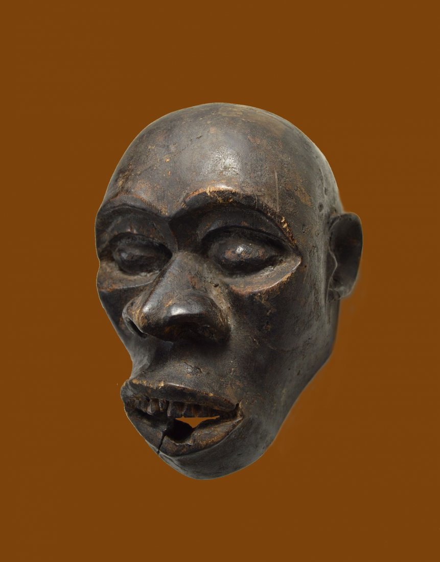 A Rare Old Bulu Monkey Mask, African Art